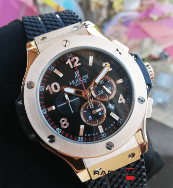 Hublot Big Bang Rose Çelik Kasa 44 MM Replika Erkek Kol Saati
