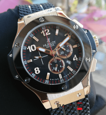 Hublot Big Bang Rose Kasa Seramik Besel 44 MM Replika Erkek Kol Saati