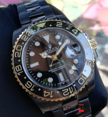 Rolex Gmt Master Prohunter Siyah Kordon Ve Kadran Replika Erkek Kol Saati