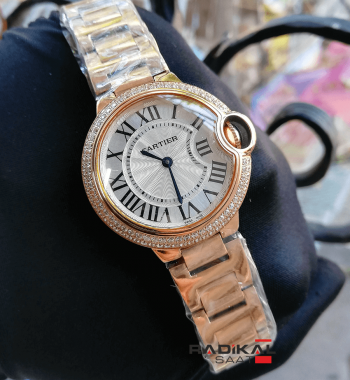 Cartier Ballon Bleu Bayan Rose Kasa 33 MM Replika Kol Saati