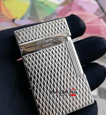 S.T. Dupont Çakmak Silver Renk Desenli Model