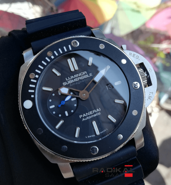 Panerai Luminor Submersible Amagnetic Black Strap Replika Erkek Kol Saati