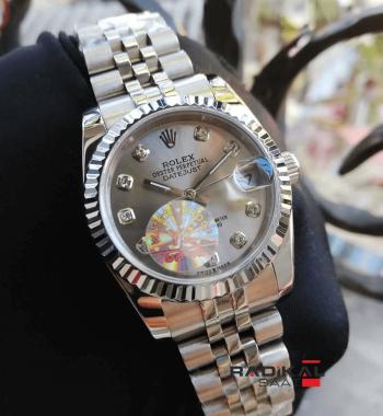 Rolex Datejust Gri Kadran Silver Kasa 31mm Replika Bayan Kol Saati