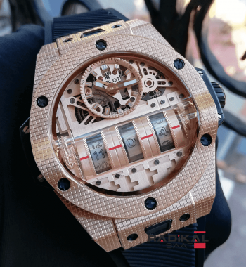 Hublot Big Bang MP-11 Power Reserve King Gold Kasa Replika Erkek Kol Saati
