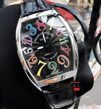 Franck Muller Color Dreams Siyah Kadran Replika Erkek Kol Saati