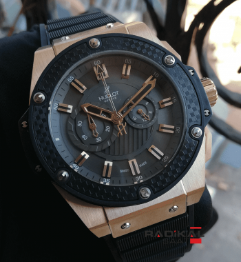 Hublot Big Bang Rose Kasa Carbon Besel Replika Erkek Kol Saati