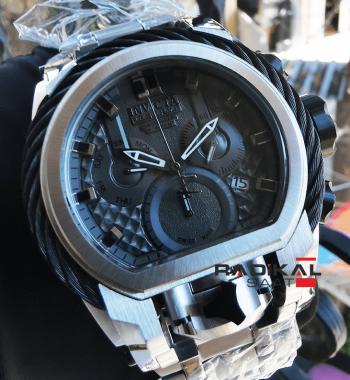 İnvicta Zeus Bolt 52MM Siyah Kadran Replika Erkek Kol Saati