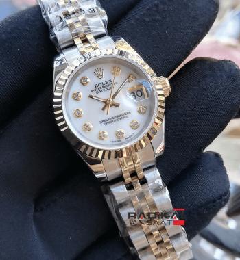 Rolex Datejust Beyaz Kadran 28 MM Replika Bayan Kol Saati