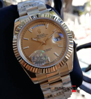 Rolex Day-Date Şampanya Kadran Gold Kasa Replika Erkek Saati