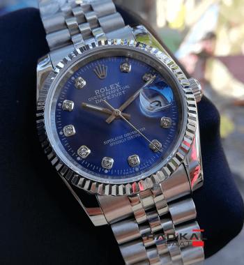 Rolex Datejust Mavi Kadran Silver Kasa 36mm Replika Bayan Kol Saati