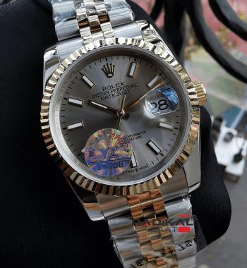 Rolex Datejust 36 MM Gri Kadran Replika Bayan Kol Saati