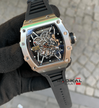 Richard Mille RM35-02 Rafa Çelik Kasa İskelet Kadran Replika Erkek Kol Saati