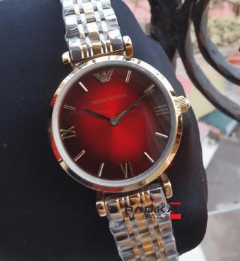 Emporio Armani Kırmızı Kadran Replika Bayan Kol Saati