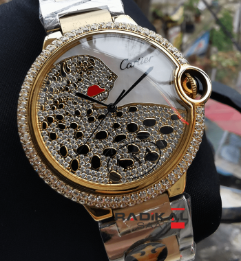 Cartier Ballon Bleu New Model Gold Kasa Replika Bayan Kol Saati