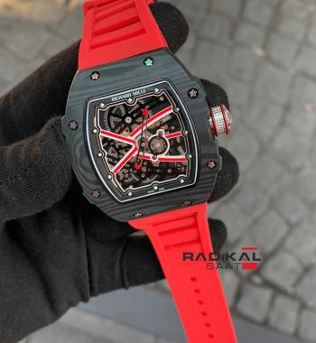Richard Mille Limited Edition RM-038-01 Kırmızı İskelet Kadran Replika Erkek Kol Saati
