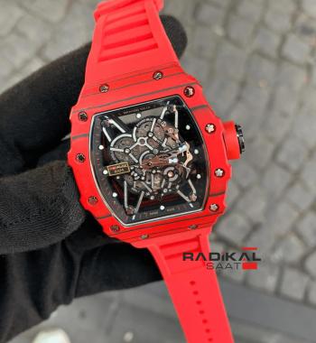 Richard Mille RM35-02 Rafa Kırmızı Carbon Kasa Replika Erkek Kol Saati