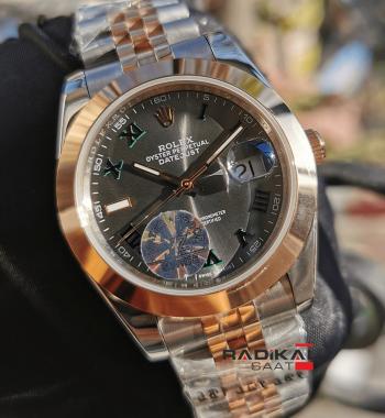 Rolex Datejust Wimbledon Dial Düz Besel Replika Erkek Kol Saati