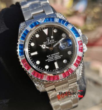 Rolex Submariner Baget Taşlı Besel Replika Unisex Kol Saati