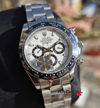 Rolex Daytona Cosmograph Seramik Besel Beyaz Kadran Replika Erkek Kol Saati
