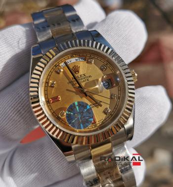 Rolex Day-Date 41 mm Taşlı Kadran Replika Erkek Kol Saati