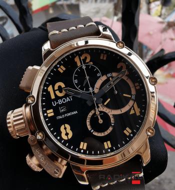U-Boat İtalo Fontana Siyah Kadran Kronograf Mekanizma Replika Erkek Kol Saati
