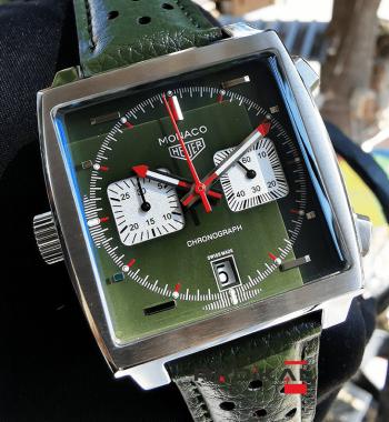 Tag Heuer Monaco Kronograf Yeşil Kadran Replika Erkek Kol Saati