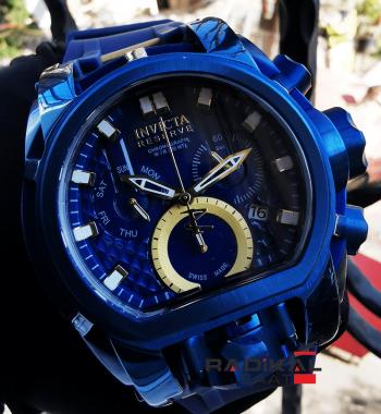 İnvicta Reserve Zeus Bolt Chronograph Mavi Kadran Replika Erkek Kol Saati