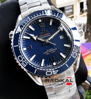 Omega Seamaster Chronometer Mavi Besel Replika Erkek Kol Saati