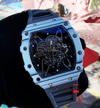 Richard Mille RM 35-02 Rafa Gri Kordon İskelet Kadran Replika Erkek Kol Saati