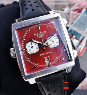 Tag Heuer Monaco Kronograf Kırmızı Kadran Replika Erkek Kol Saati