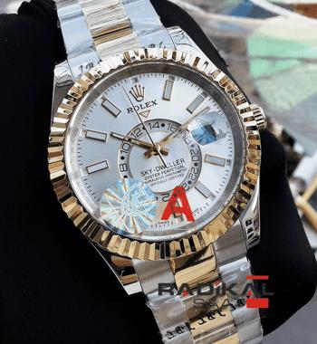 Rolex Sky-Dweller Gmt Gri Kadran 44 MM Replika Erkek Kol Saati890