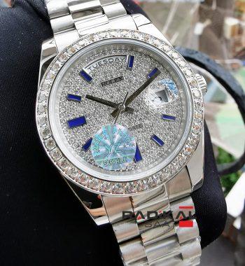 Rolex Day-Date Silver Kasa Replika Bayan Kol Saati