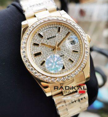 Rolex Day-Date Gold Kasa Replika Bayan Kol Saati