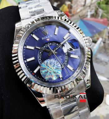 Rolex Sky-Dweller Gmt Mavi Kadran Erkek Kol Saati