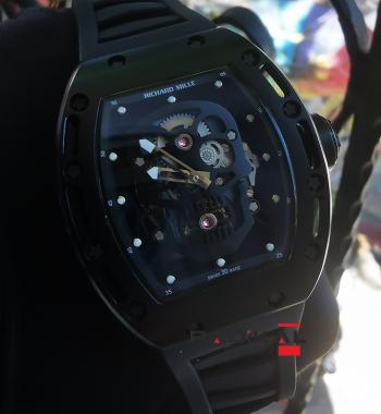 Richard Mille Skull RM 52-01 Pvd Kasa Replika Erkek Kol Saati