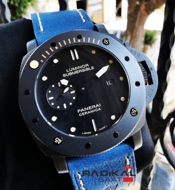 Panerai Luminor Submarsible PVD Siyah Kasa Replika Saat