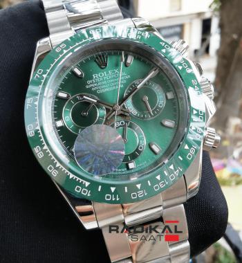 Rolex Cosmograph Daytona Yeşil Replika Erkek Kol Saati
