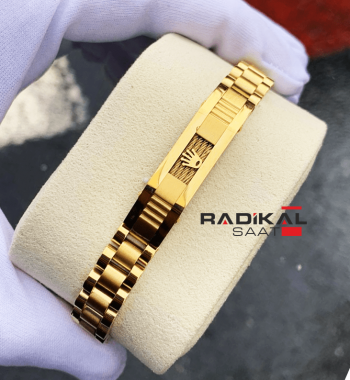 Rolex Oyster Kordon Gold Renk Erkek Bileklik