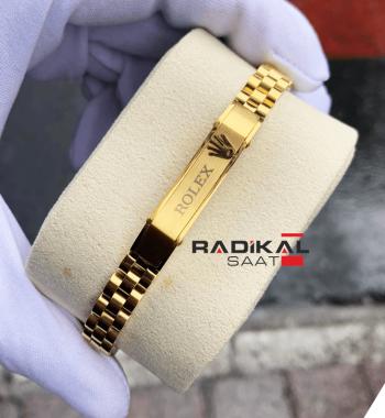 Rolex Yazılı Jubile Kordon Gold Renk Erkek Bileklik Modelleri