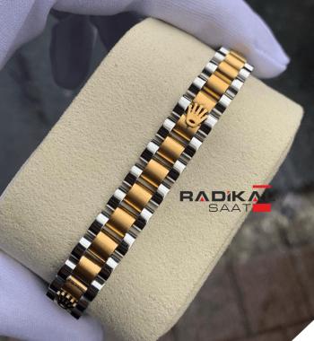 Rolex Oyster Kordon Rose Gold Renk Erkek Bileklik