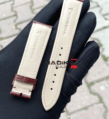 Rolex Kahverengi Deri Toka Uyumlu Saat Kordonu