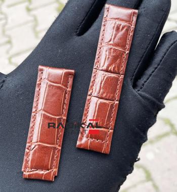 Rolex Kahverengi Deri Klips Uyumlu Saat Kordonu