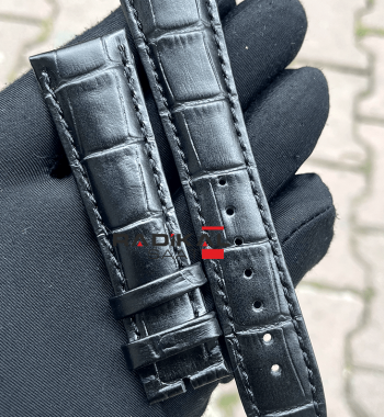 Vacheron Constantin 22 MM Siyah Renk Deri Saat Kordonu