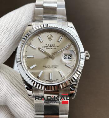 Rolex DateJust 41 126334 904L Gümüş Kadran Oyster Bileklik VS3235 ETA