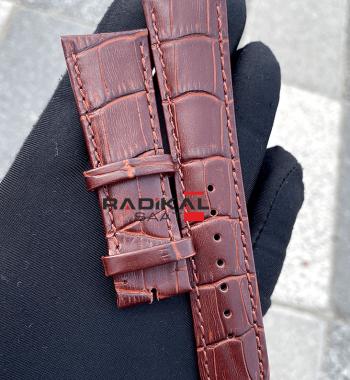 Rolex Toka Uyumlu Kahverengi Deri Saat Kordonu