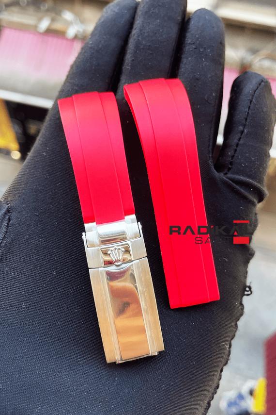 rolex daytona kırmızı silikon kordon