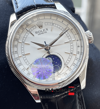 Rolex Cellini Moonphase Deri Kordon Gece Ve Güzdüz Replika Erkek Kol Saati